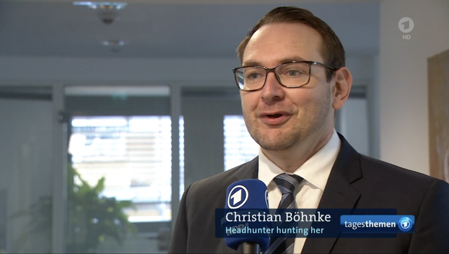 Headhunter für Frauen: Hunting/Her-Founder Christian Böhnke in den ARD-Tagesthemen