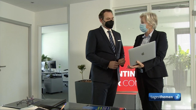 Headhunter Claudia Ulpts, SC-Hunting/Her im Gespräch mit Christian Böhnke in den ARD-Tagesthemen